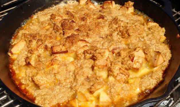 Bacon-apple crisp