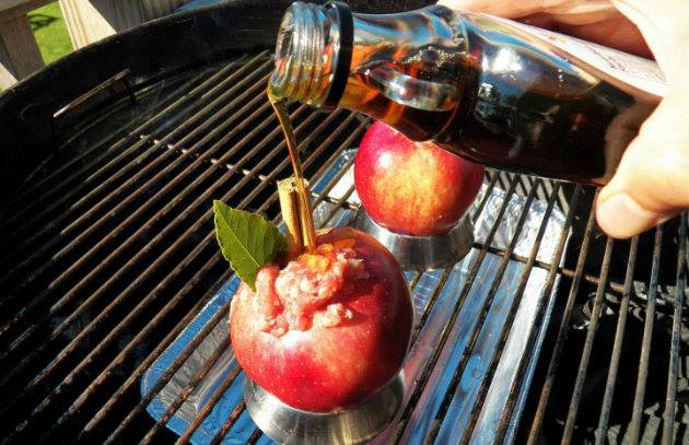 A New Baked Apple Stuffed with Sausage and Sage