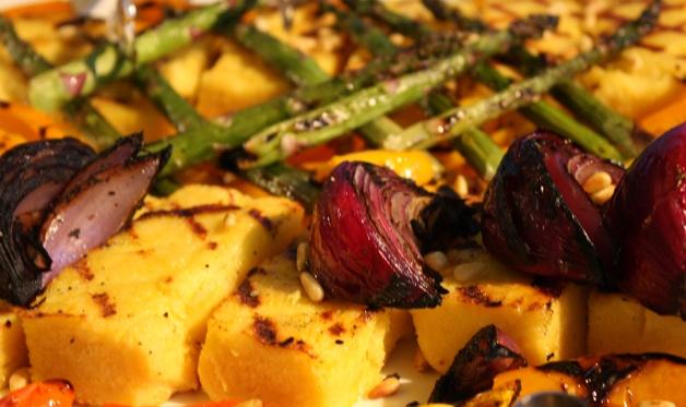 Tuscan Grilled Polenta & Vegetable Platter