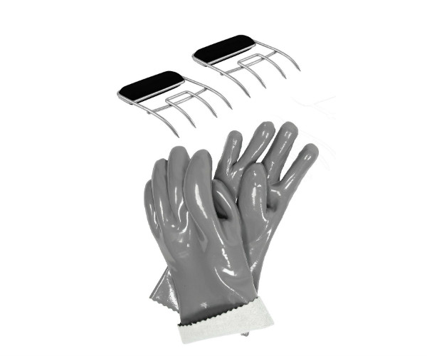 Insulated gloves and meat claws set