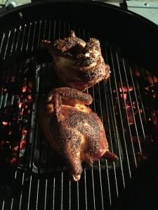 Smoked organic chicken