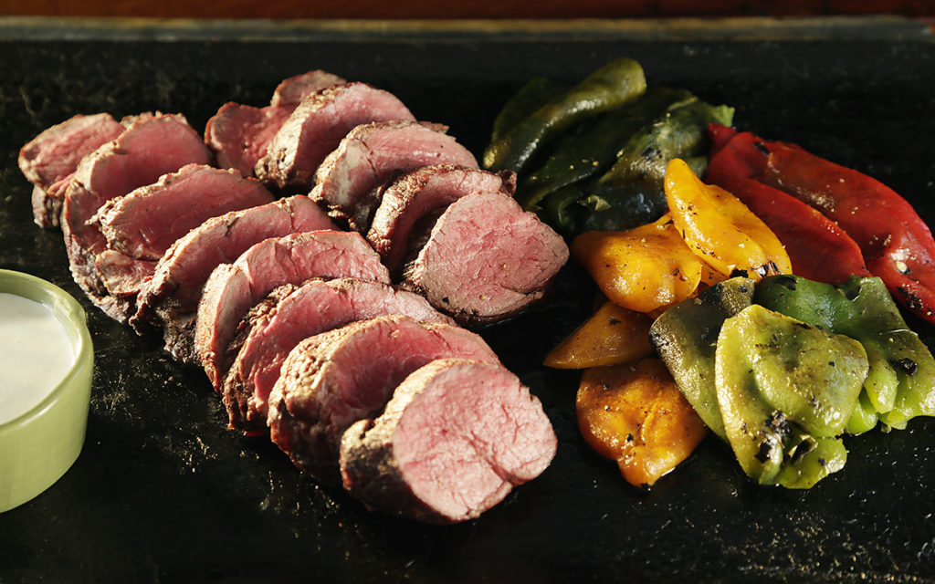 Whole Smoked Beef Tenderloin with Ember-Roasted Peppers