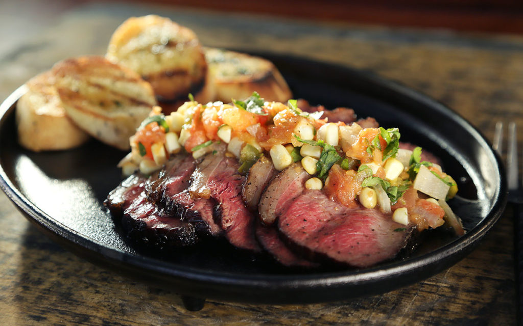 Reverse Seared Tri-Tip with Smoked Tomato Salsa
