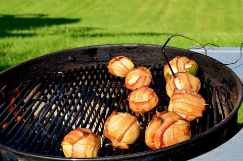 Onion bombs on the grill