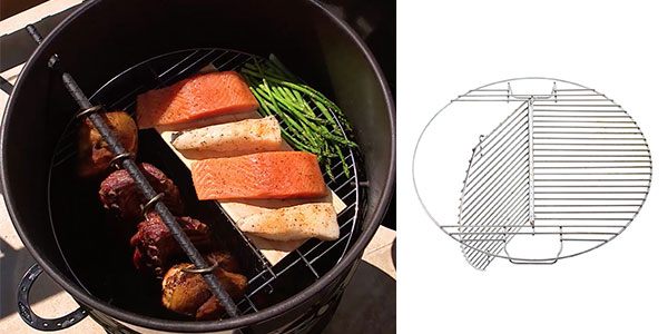 Hinged Grill Grate for Pit Barrel Cooker