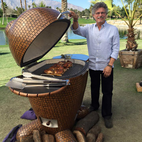 Steven Raichlen with Komodo Kamado grill