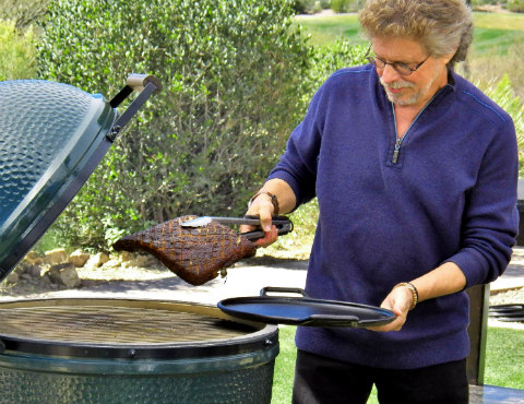 Steven Raichlen with Big Green Egg