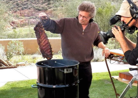 Steven Raichlen with Pit Barrel Cooker
