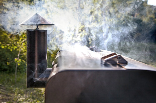 Camp Chef pellet grill with smoke