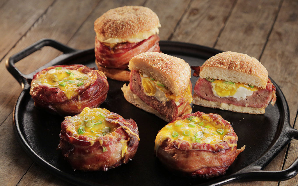 Beer-Can Breakfast Burgers