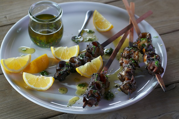 Moroccan Grilled Chicken Kebabs with Charmoula
