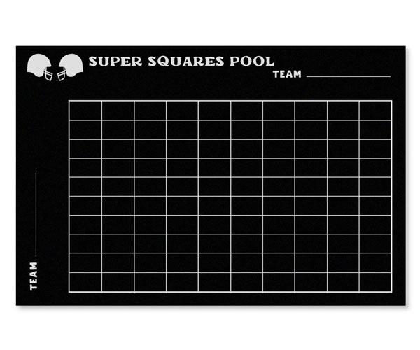 Super Bowl Vinyl Chalkboard Grid