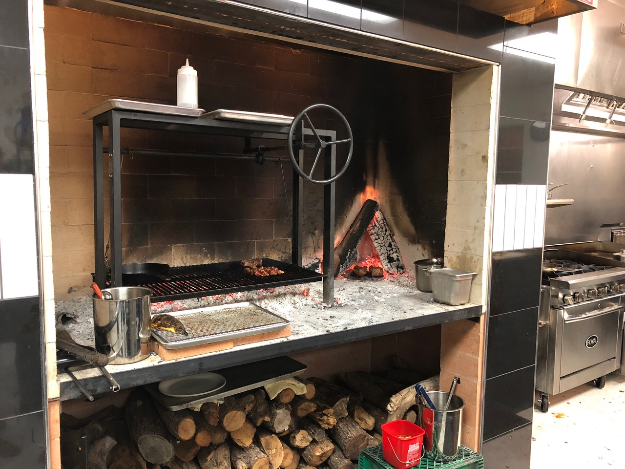Tito and Pep - Overview of Woodburning Grill