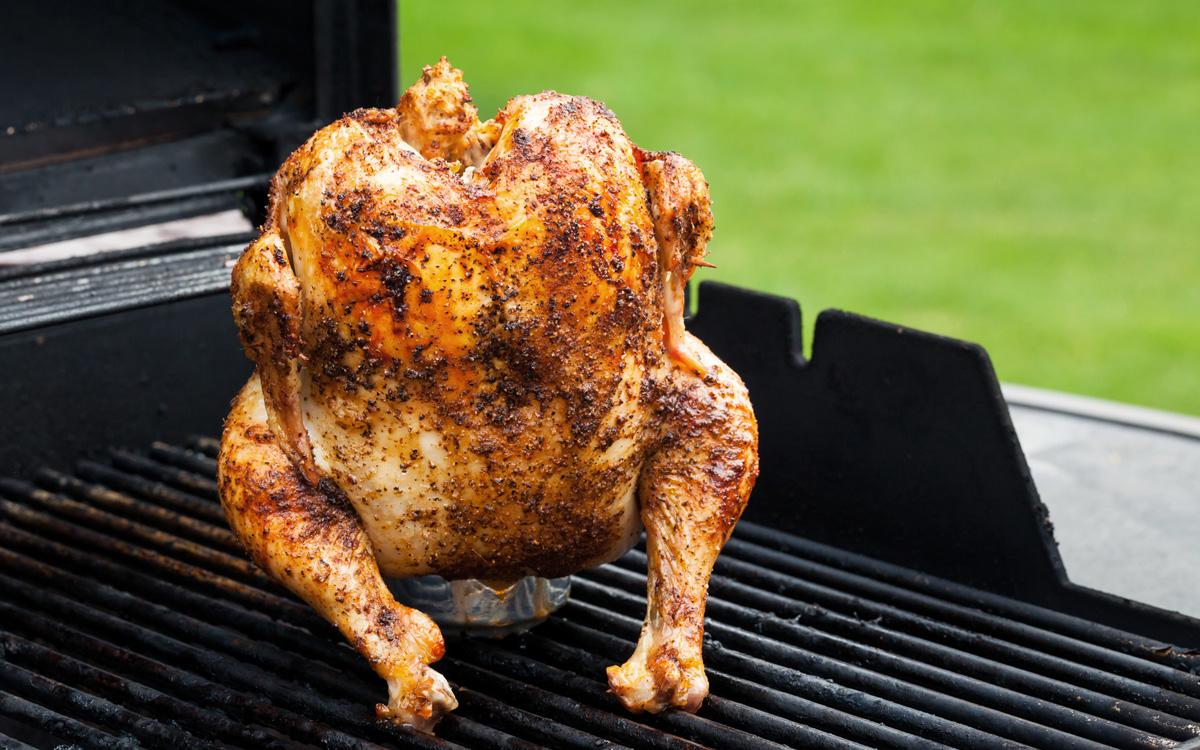 Steven Raichlen S Beer Can Chicken Recipe Barbecuebible Com