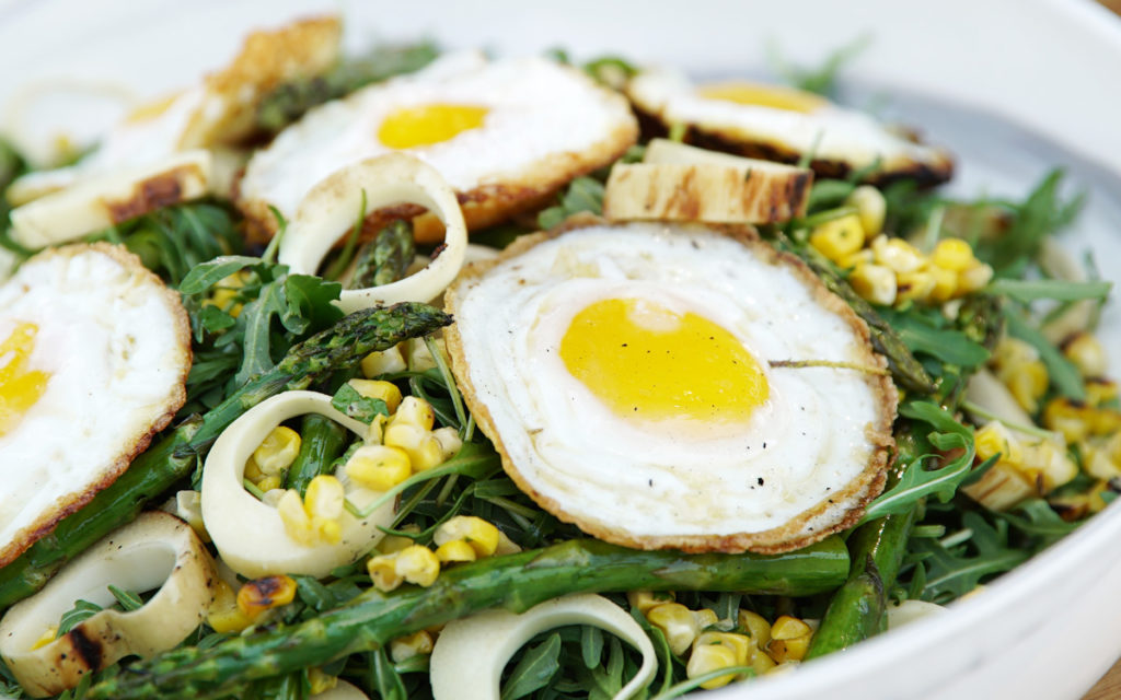 """A New """"Egg Salad"""" With Grilled Vegetables"""