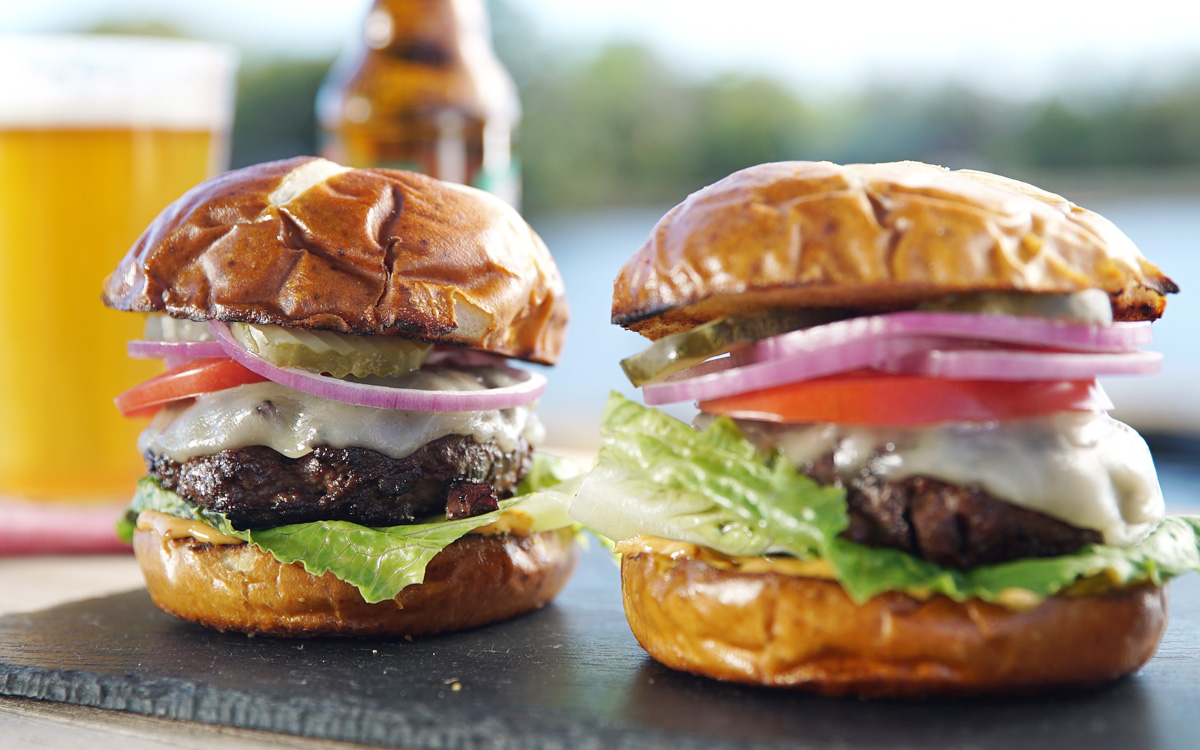Smoky Brisket Burgers Recipe Barbecuebible Com