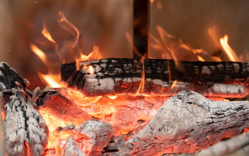 Wood burning in gaucho