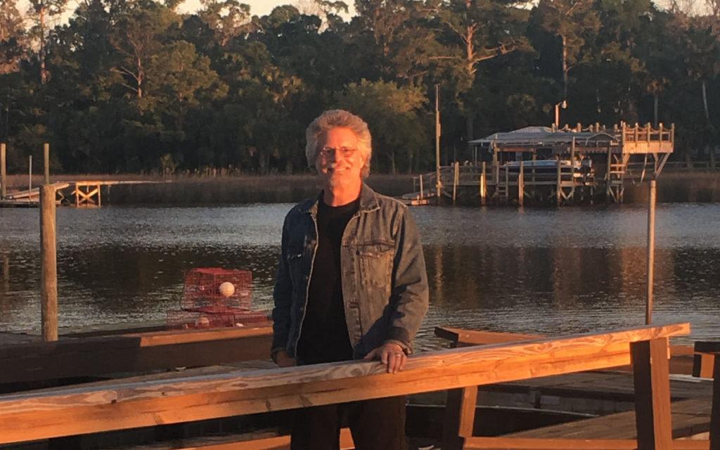 Steven Raichlen on set of Project Fire Season 2