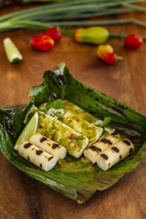 Banana Leaf Grilled Lionfish