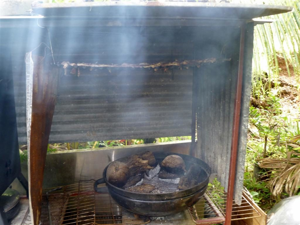 Smoking pit of Reuben Olivas in Guam