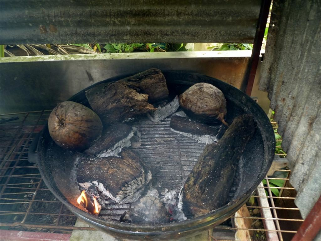 Smoking pit with Tangantangan wood