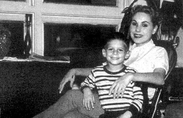 Young Steven Raichlen with Frances Raichlen