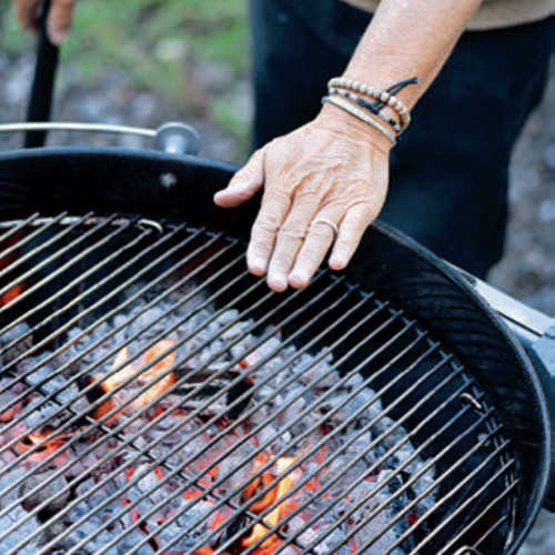 Mississippi method of checking grill temperature