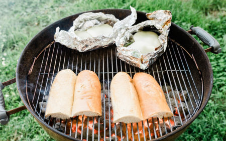 Grilling Bread and Philly Cheesesteaks in a Foil Packet