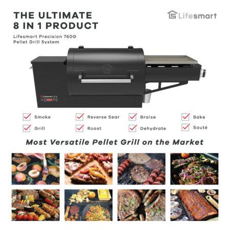 Lifesmart 8 in 1 pellet grill
