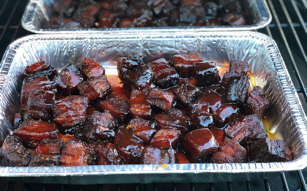 Pork Belly Burnt Ends with Glaze