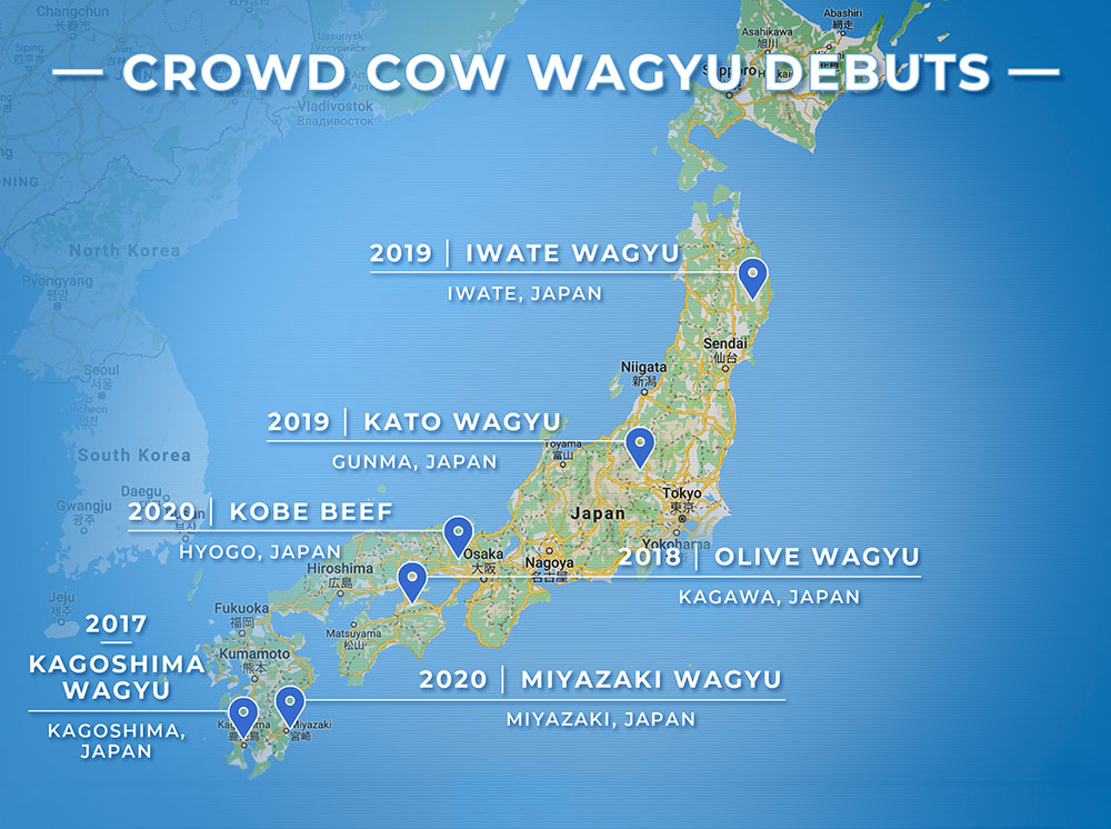 Crowd Cow Map of Japan