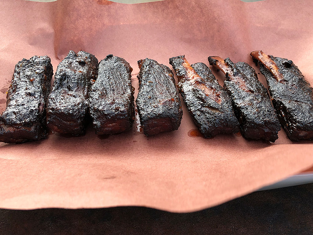 Rib Wings on butcher paper